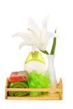 Spa setting with white lily Stock Image
