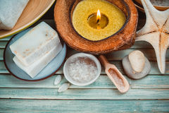 Free Spa Setting With Coconut Oil, Royalty Free Stock Photo - 48227645