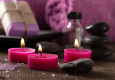 Spa setting on wooden surface Stock Photography