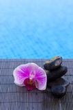 Spa settings by a pool Royalty Free Stock Photo