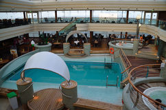 Spa on a ship indoor. Spa with pool on a ship indoor Stock Photography