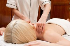 Spa Should Massage Detail Royalty Free Stock Image