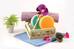 Spa and Shower Set Stock Images