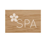Spa sign with tiare flower Royalty Free Stock Photo
