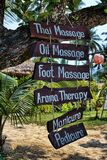 Spa sign on wooden planks