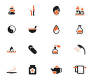 Spa simply icons Stock Photography