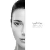 Spa skönhet- och Skincare begrepp malldesign Arkivbilder
