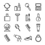 Spa & skönhetsymboler Arkivbild