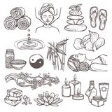 Spa sketch icons Stock Images