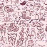 Spa sketch seamless pattern Stock Photography