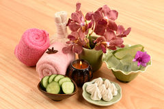 Spa skin with natural ingredients Stock Image