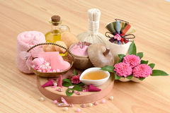 Spa skin with soap, honey and olive oil. stock image