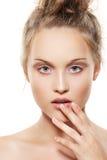 Spa, Skincare, Wellness, Nails. Purity Beauty Face Stock Photo