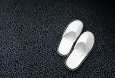 Spa Slippers Royalty Free Stock Photography