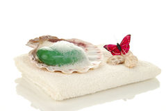 Spa soap Stock Photos