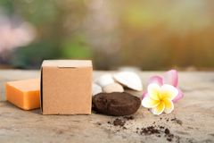 Spa soap and coffee royalty free stock photography