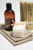 SPA soap and towels Royalty Free Stock Images