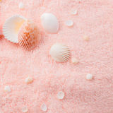Spa soft concept with delicate pink flower fuchsia Royalty Free Stock Photo