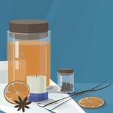 SPA καθορισμένη SPA, aromatherapy και μασάζ, Στοκ φωτογραφία με δικαίωμα ελεύθερης χρήσης