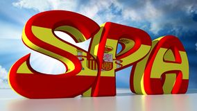 SPA for spanish Stock Photo
