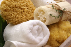 Spa sponges Stock Photography