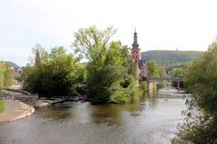 Spa stad Bad Kreuznach, Tyskland Royaltyfria Foton