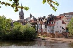 Spa stad Bad Kreuznach, Tyskland arkivbild