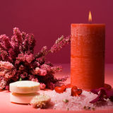 Spa, still life. Calm and relaxing spa accessories, still life Royalty Free Stock Photography