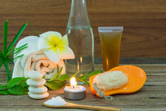 Spa still life with aromatic candles Stock Photography