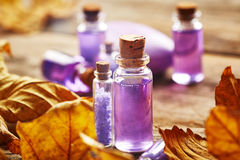 Spa still life with autumn leaves Royalty Free Stock Images