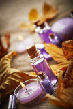 Spa still life with autumn leaves Royalty Free Stock Photography