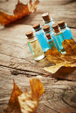 Spa still life with autumn leaves Royalty Free Stock Photo