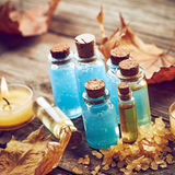 Spa still life with autumn leaves Stock Photography