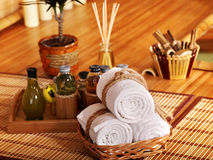 Spa still life  with bamboo. Royalty Free Stock Photography