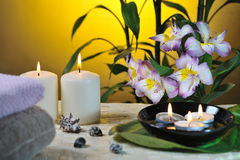 Spa still life with bamboo Royalty Free Stock Photos