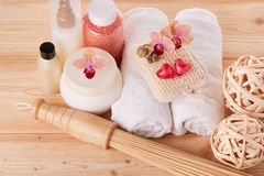 Spa still life. Body care concept. Royalty Free Stock Images
