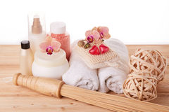 Spa still life. Body care concept. Royalty Free Stock Image