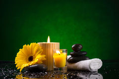 Spa still life with  candles Stock Photos