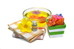 Spa still life  with flower Royalty Free Stock Photography