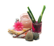 Spa still life  with flower Royalty Free Stock Image