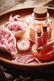 Spa still life with flower petals Royalty Free Stock Image