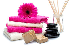 Spa still life with fragrance sticks.  Royalty Free Stock Images
