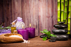 Spa still life. With free space for text Royalty Free Stock Images
