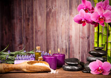 Spa still life. With free space for text Stock Photos