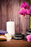 Spa still life. With free space for text Royalty Free Stock Photography