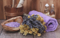 Spa still life  with herbs Royalty Free Stock Photography