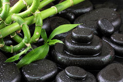 Spa still life with hot stones Stock Images