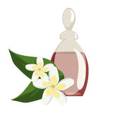 Spa still life icons with water lily and zen stone in serenity pool . Spa wellness icons and body spa relaxation icons . Spa still life icons with water lily Royalty Free Stock Image