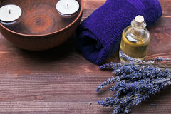 Spa still life with lavender Royalty Free Stock Image