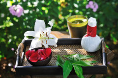 Spa still life with lily Stock Photo